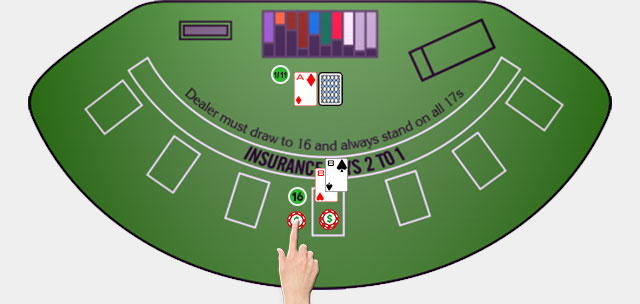 Blackjack Player Move Insurance