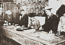 Old Photo of People Playing American Roulette Casino