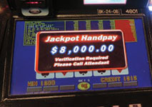 Video Poker Jackpot Winner