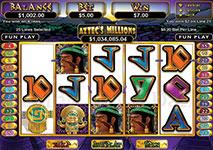 RTG Slots Aztec's Millions Screenshot