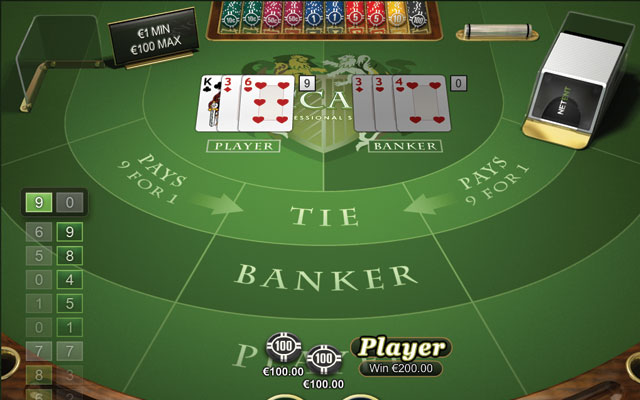 Baccarat Player Bet