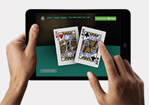 Poker played on tablet using Trustly Deposit
