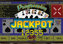 Progressive Jackpot Video Poker Win