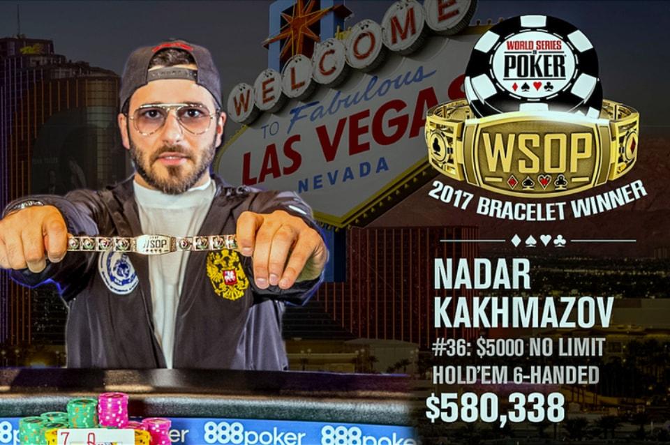 Nadar Kakhmazov Outlasts 2017 WSOP No-Limit Hold'em Six-Max