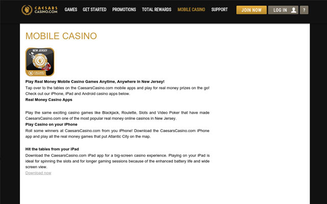 caesars online casino review