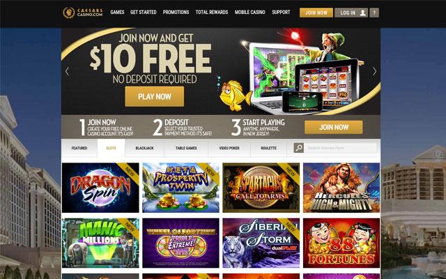 caesars online casino games