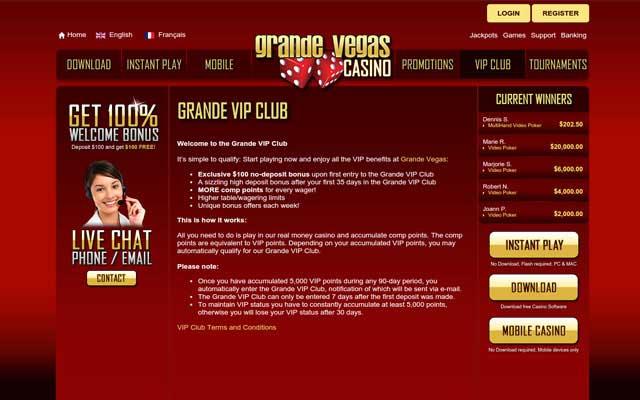 Grande Vegas Casino 5