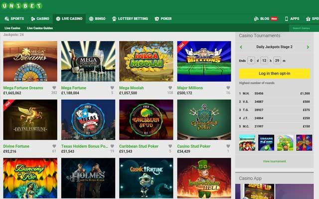 Unibet Casino 1