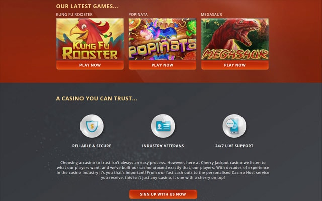 Cherry Jackpot Casino Trust Score Review Bonuses Games