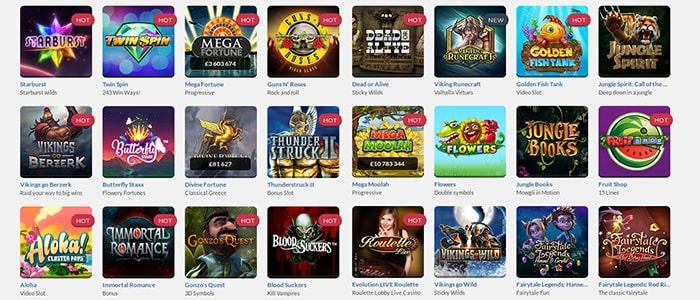 Get Lucky Casino App Games