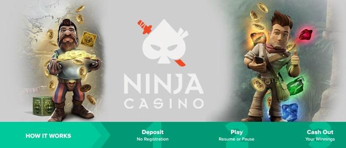 ninja casino app banking