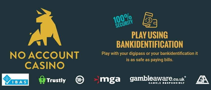 no account casino app safety