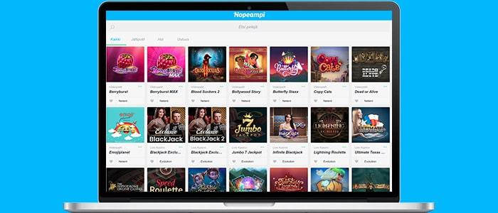 nopeampi casino app games