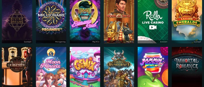 rolla casino app games