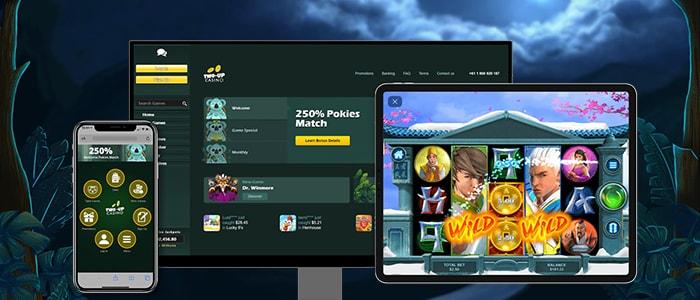 Two-Up Casino App Intro