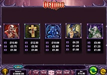 Demon Slot Combinations and Jackpots