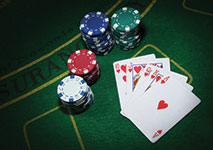 Poker Royal Flush and Chips