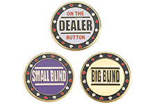 Poker Buttons - Dealer, Small Blind and Big Blind