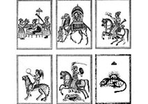 Deck of Ganjifa Treasure Cards from Persia