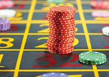 Roulette Casino Table Split Bet