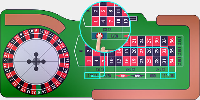 Roulette High or Low Outside Bet