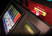 Video Poker Machine in Casino Card Accepted