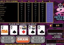 Video Poker Deuces Wild Screenshot