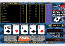 Video Poker Double Bonus Screenshot
