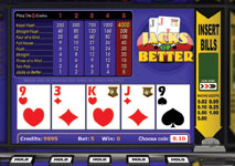 Video Poker Jacks or Better Screenshot