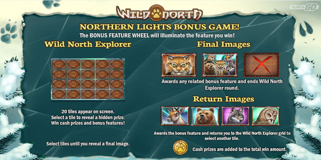 Slot Wild North Bonus Game Paytable