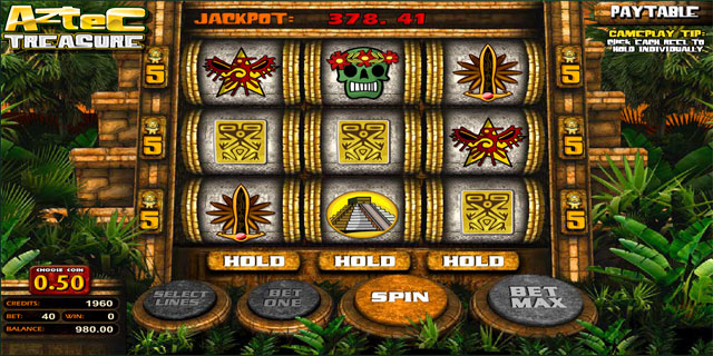Classic 3-Reel Slot - Aztec Treasure