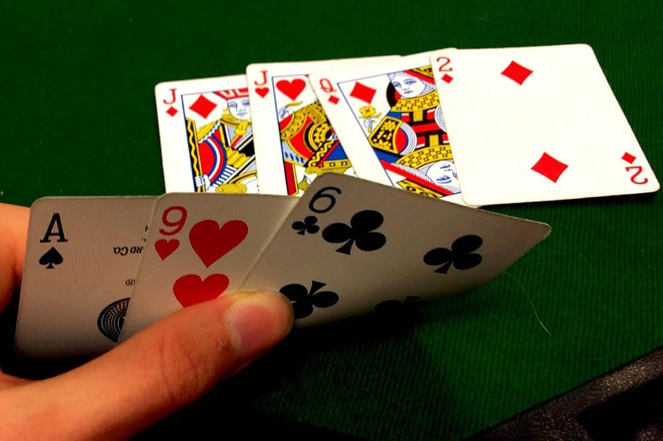 Playing Seven Card Stud