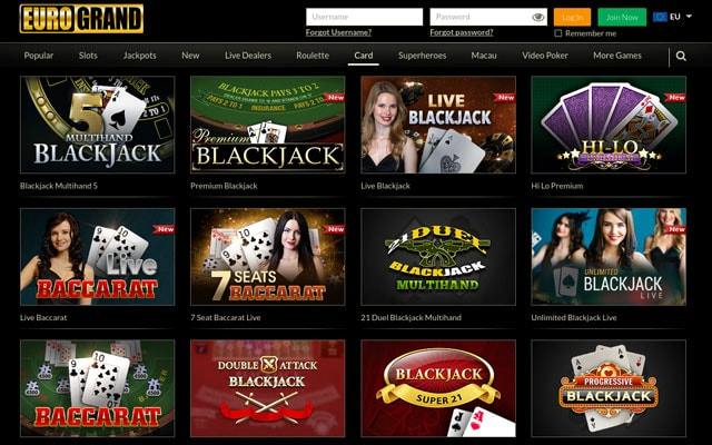 online casino euro on9 games
