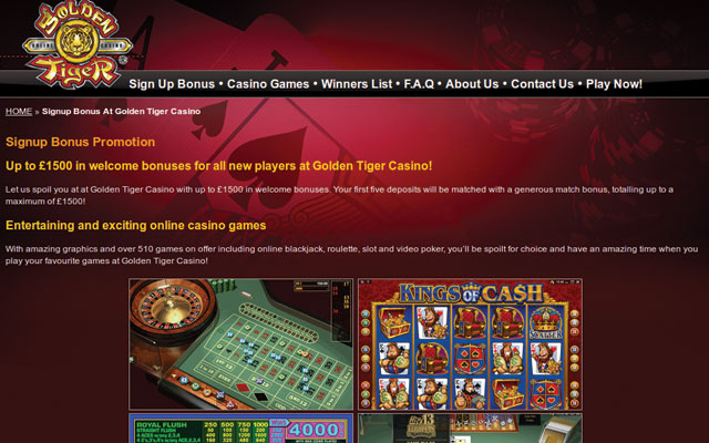 golden tiger casino login