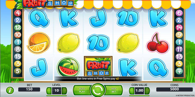 Multi-Payline Slot – Fruit Shop