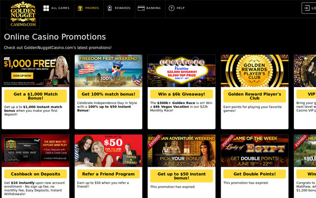golden nugget online casino games kazino