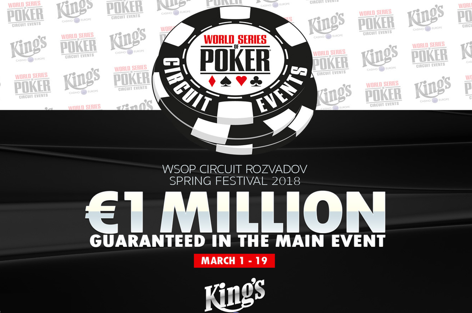 World Series of Poker Circuit Spring Festival torna a King's Casino a marzo