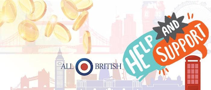 All British Casino App Support