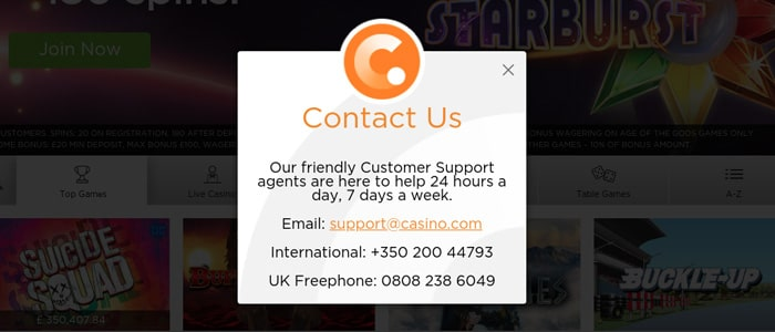 Casino.com App Support