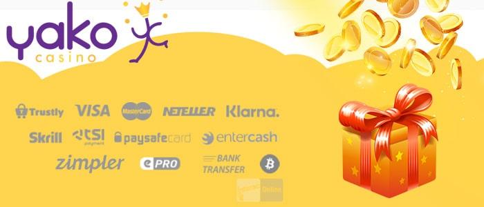 Yako Casino App Payment Methods