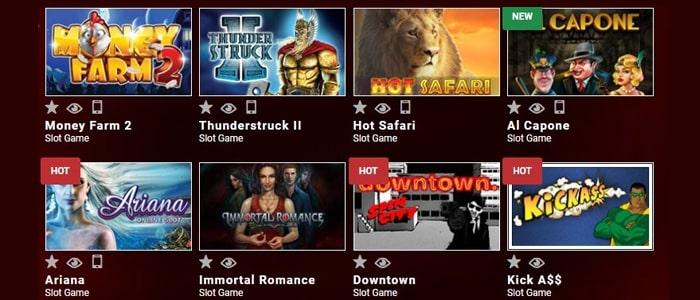 Mongoose Casino App Games