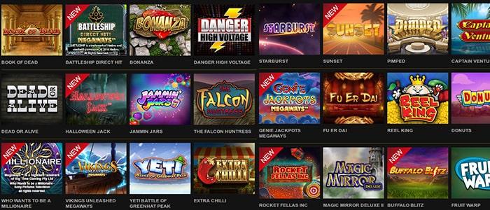 Videoslots Casino App Games