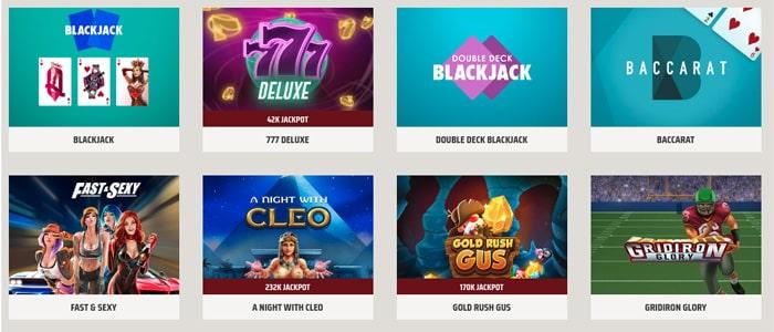 ignition casino app games